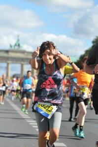 """Nathalie, """"femme de défis"""", lors de son premier marathon"""